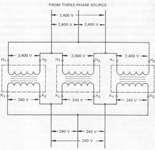 wiring diagram 208v 480v dry type transformers