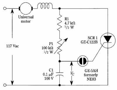 Universal Motor Thyristor Control Circuit Controlcircuit Circuit