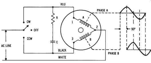 single phase synchronous motor wiring diagram