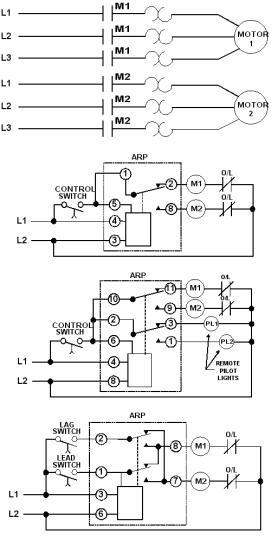 alternating relay switch circuit schematic diagram