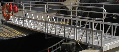 Aluminum Gangways Portable Boat Ramps Metal Gangway