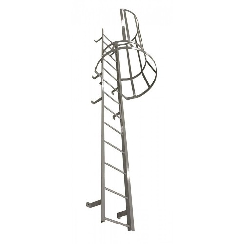 Cotterman Fsc Series Fixed Steel Ladders With Side Exit Cage