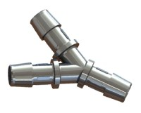 Metal Hose Barb Y Connectors - Metal Hose Barb Fittings ...