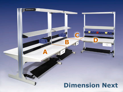 DIMENSION NEXT - EXPANDABLE MODULAR WORKBENCHES - Pro-Line Series