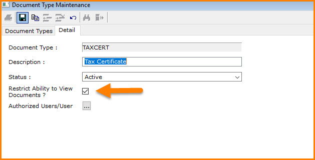 How to control viewing of documents with Document Types in ERP