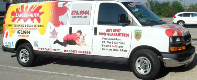 Langenwalter Van wrap, full van wrap, Langenwalter vehicle wrap