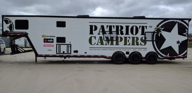 Patriot Campers wrap, large camper wrap, exterior camper wrap, camper graphics