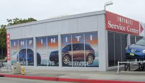 Infiniti window graphics, car dealer window graphics, business window graphics, business windows