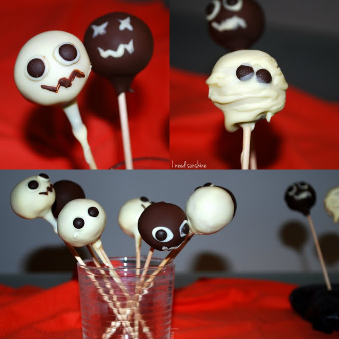 tasty tuesday einfache halloween cake pops ohne backen i need sunshine. Black Bedroom Furniture Sets. Home Design Ideas