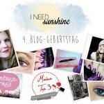 Bloggeburtstag-4-Jahre-I-need-sunshine