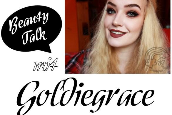 Beauty Talk Beauty Blogger Interview mit Goldiegrace vom Beautyblog Bourgeois Shangri-La beantwortet drei Fragen über Kosmetik, Make-up und gibt Schminktipps