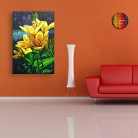 Flower Wall Painting Photo Albums - Fabulous Homes ...