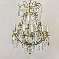Antique Venetian Brass and Crystal Chandelier - Inessa ...