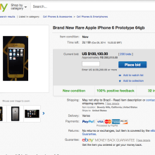 iPhone 6 000000-1a venda no Ebay