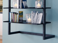 Metal Wall Bookcase Step