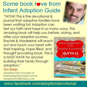 My book review for Encouragement for the Adoption and Parenting Journey
