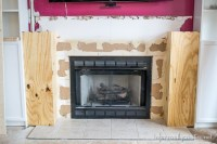 Family Room Makeover Part 2: Framing Out the Fireplace ...