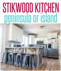 Stikwood Kitchen Peninsula