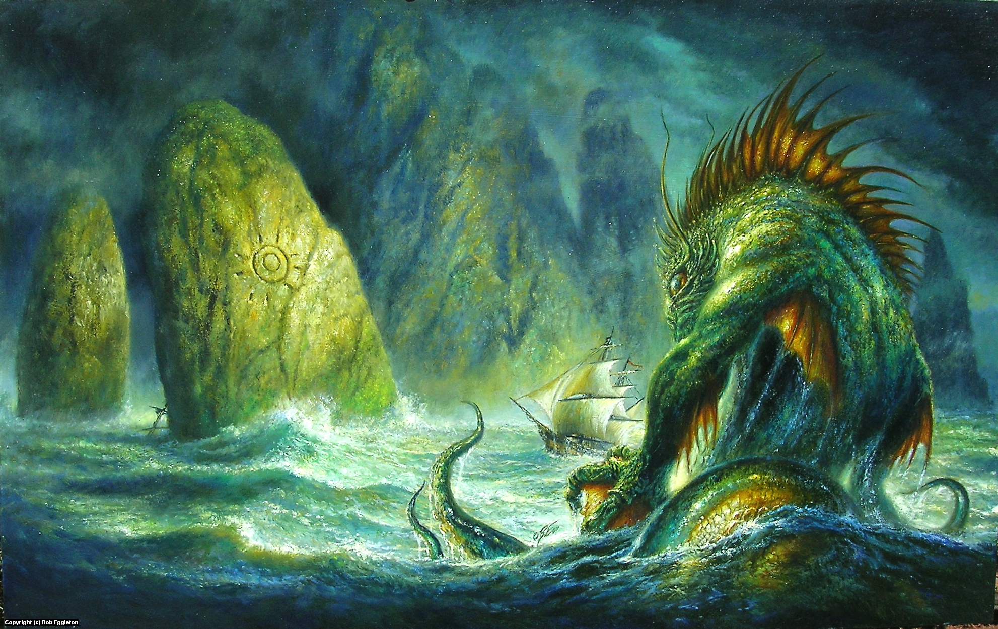 Mythical Creatures In The Fall Wallpaper Infected By Art 187 Art Gallery 187 Bob Eggleton 187 Dagon In