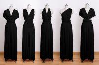 convertible wrap dress, infinity dress, long dress, black ...