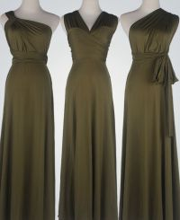 Olive Green Bridesmaid Dress infinity, Olive Green ...