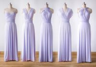 5 Violet Bridesmaid Dress Set, Infinity Dress Prom Dress ...