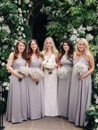 4 Bridesmaid Dress Set, Grey Convertible Maxi Dress