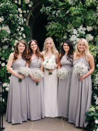 4 Bridesmaid Dress Set, Grey Convertible Maxi Dress ...