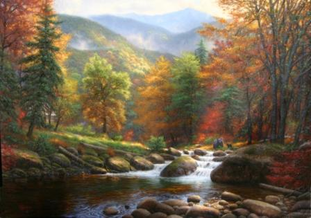 Birch Tree Fall Wallpaper Close Up Mountain Music By Mark Keathley As Painted In Stages