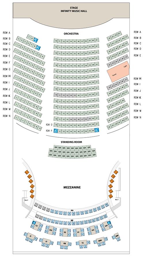 Seating Chart - Infinity Hall Hartford