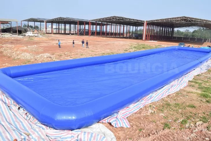 Custom Blue Color Largest Inflatable Water Pool / Square Above