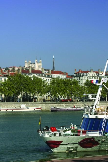 Le Rhô™ne dans la traversŽe de Lyon