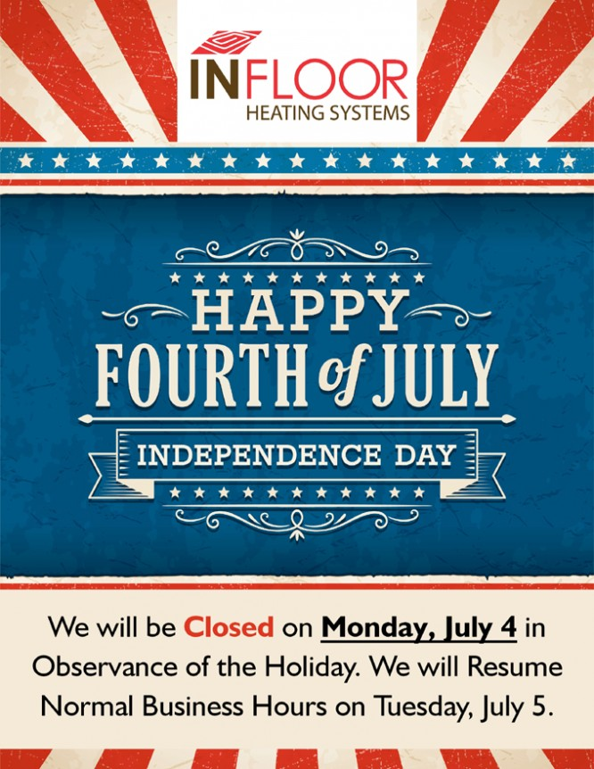 Closed Monday, July 4