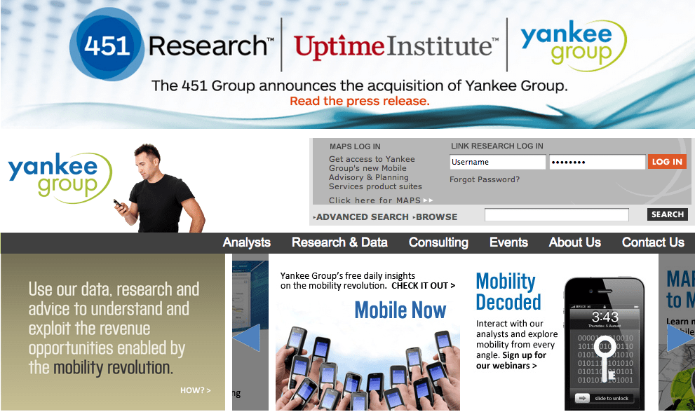 Yankee Group saved by 451 acquisition