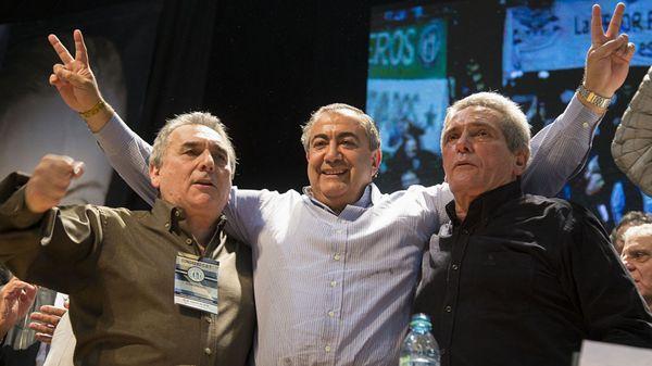 Juan Carlos Schmid, Hector Daer y Carlos Acuña (NA)