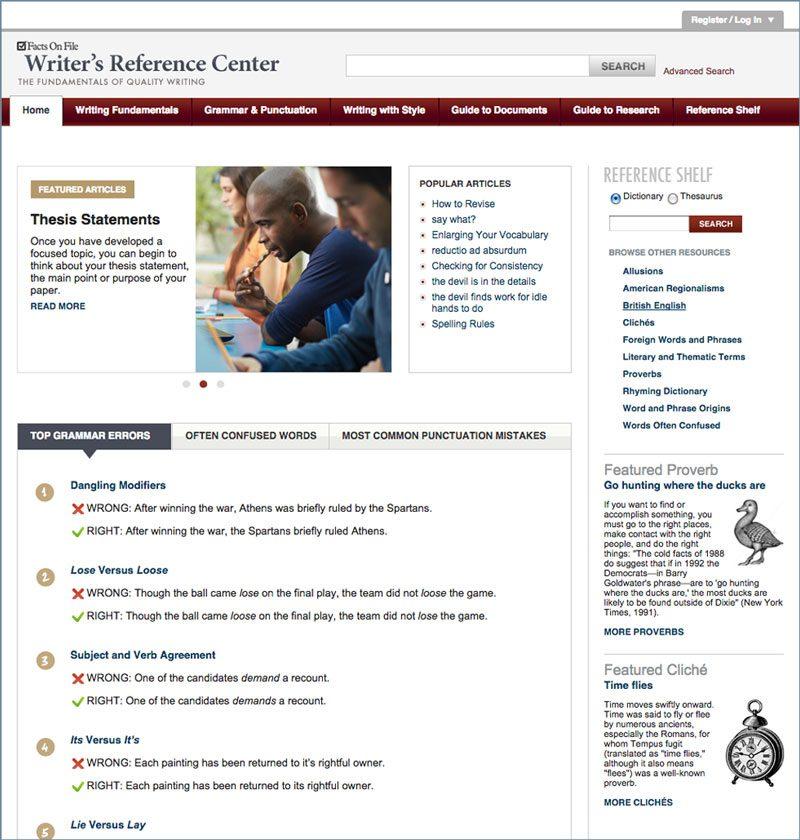 Writer\u0027s Reference Center Infobase