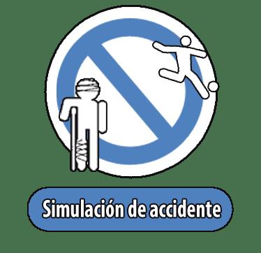 Simulación de accidente