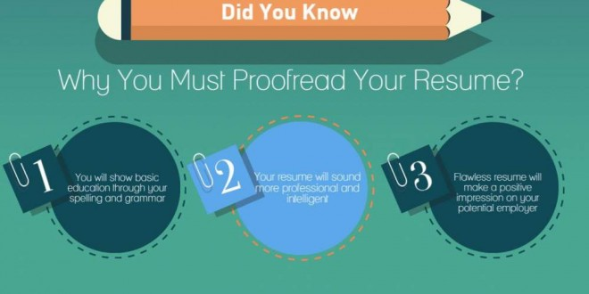 Why Resume Proofreading Is So Important? \u2013 Infographic Portal