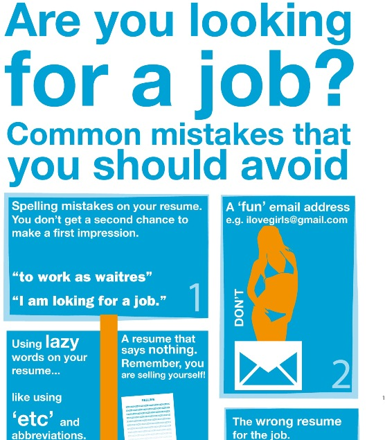 Mistakes That You Should Avoid in CV (Infographics)