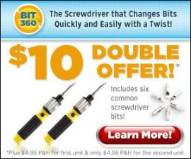 Bit 360 Screwdriver | 6 in 1 Magnetized Screw…