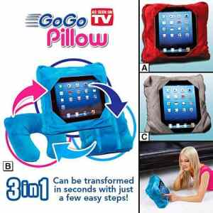 Gogo Pillow Holds Your Tablet And Is A Backpack