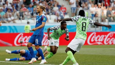 Nigeria vs Iceland: Super Eagles Trash Iceland 2 goals to Nil - INFORMATION NIGERIA