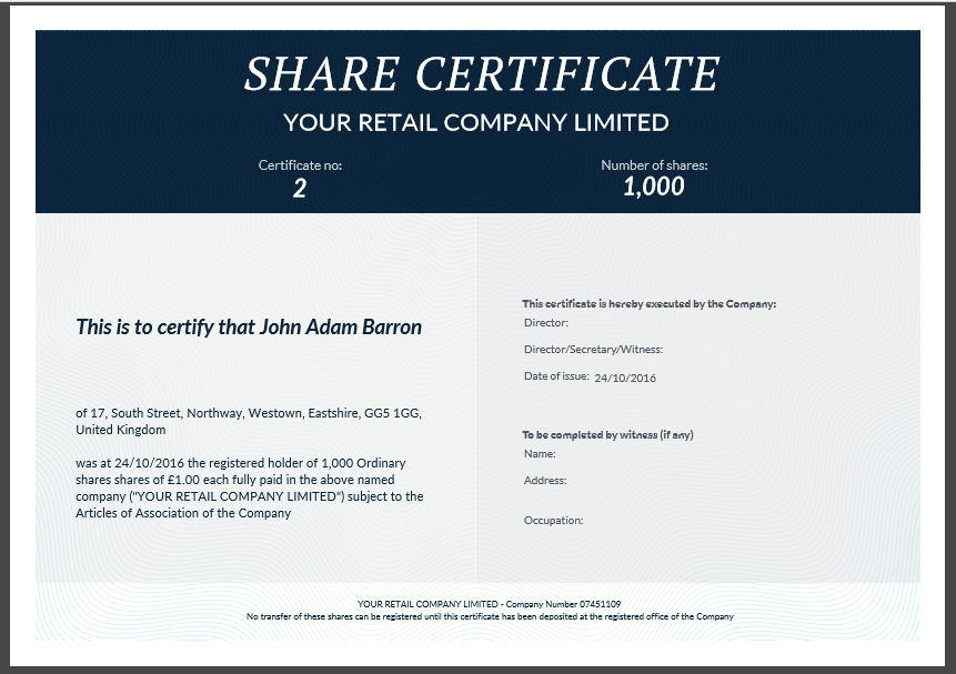 Pretty Shareholders Certificate Template Photos >> Share Stock ...