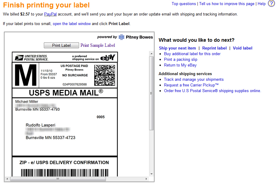 How Do You Print Shipping Labels? Choosing eBay Shipping Options