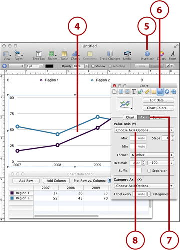 Creating Line Graphs Creating Charts in Pages for the Mac InformIT