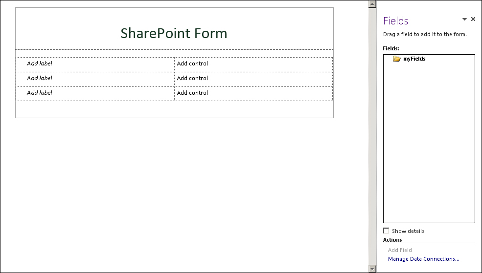 Create a SharePoint Form with InfoPath Designer Design a