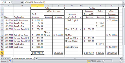Understanding Ledgers Summarizing Business Transactions in Excel - business ledger example