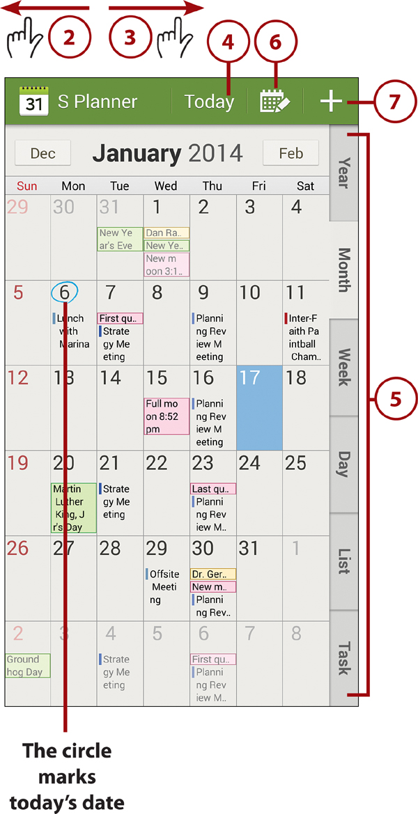 Using the S Planner Calendaring Application Working with Date - calender s