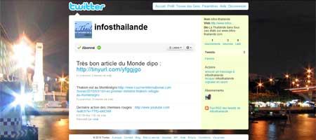 Suivez Infos-Thaïlande sur Twitter !