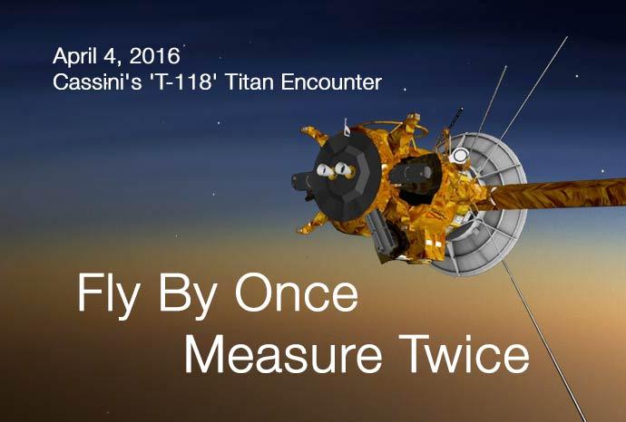 2 JPG. Titan 118 Flyby. Fly By Once, Measure Twice. 04/04/2016